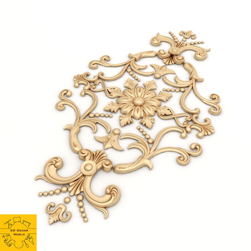 3D model ornament modeled