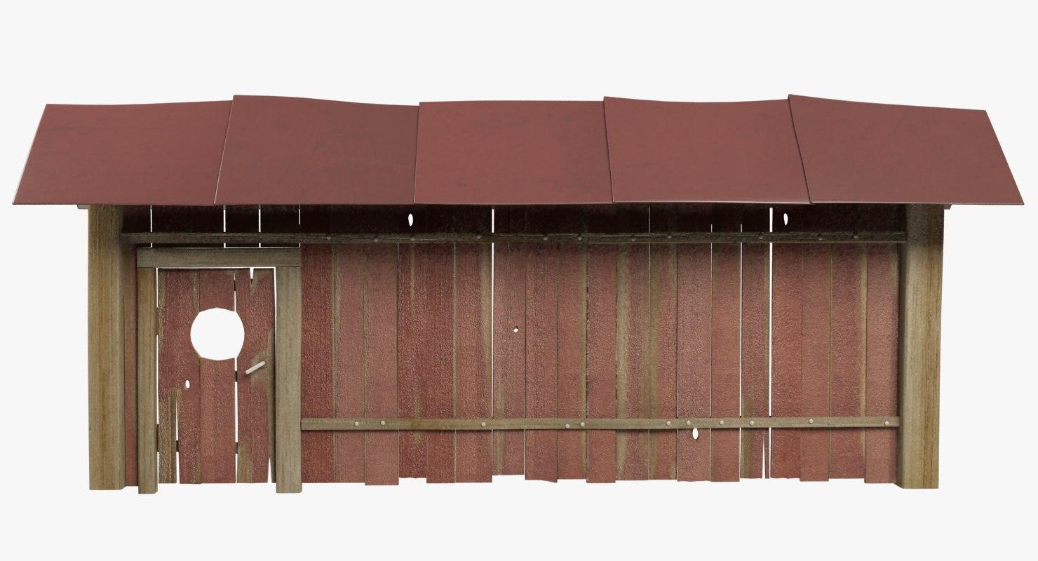 3D wooden gate model