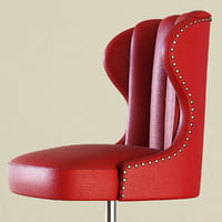 bar stool captains chair 3D
