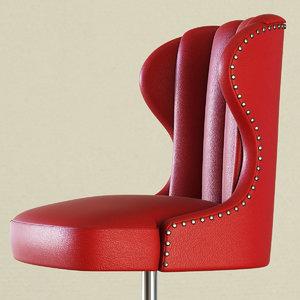 bar stool captains chair 3D