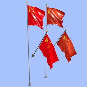 3D china flag