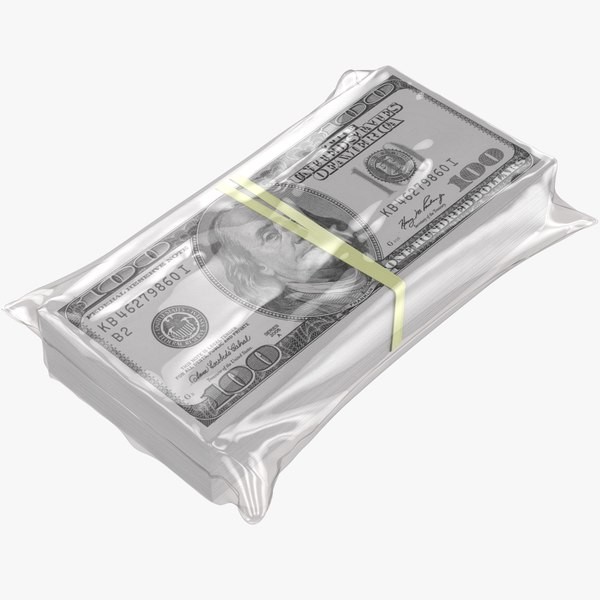wrapped stack dollar$ 3D model