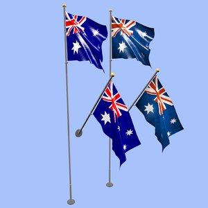 3D australia flag