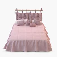 bed pillows 3D model