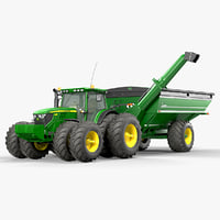 Utility Tractor John Deere 8400 with Grain Cart