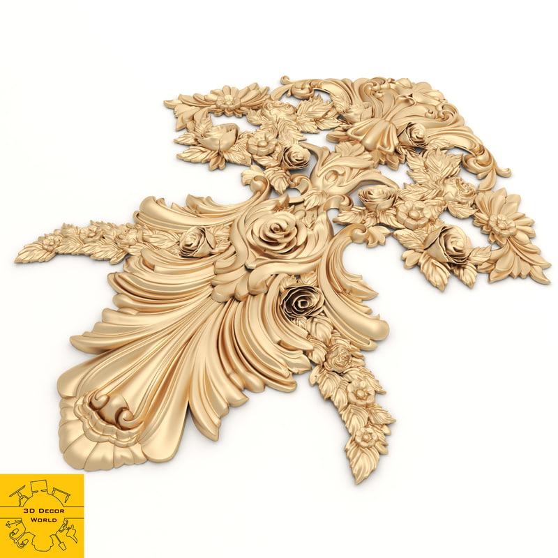 ornament modeled 3D model