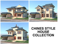 chines style houses 3D