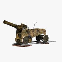 3D howitzer italian model