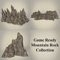 ready mountain rocks 3D model