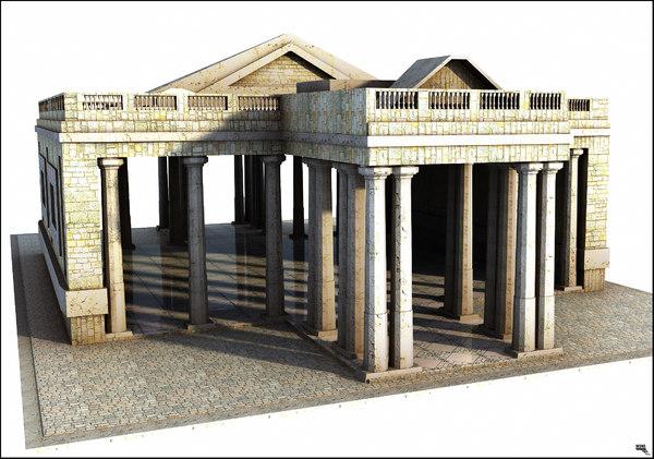 3D model greek structure