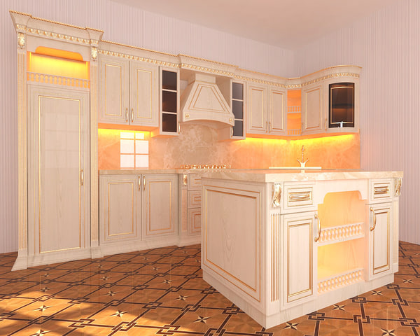 kitchen classic afqanxalid 3D model