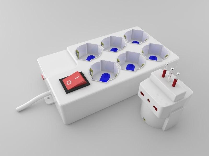 power plug extension 3D
