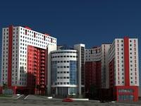 apartment office 3D model