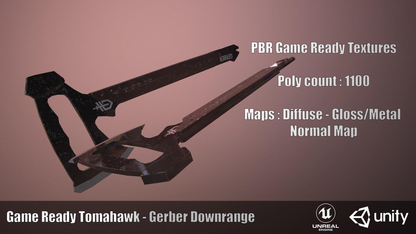 ready tomahawk gerber downrange 3D