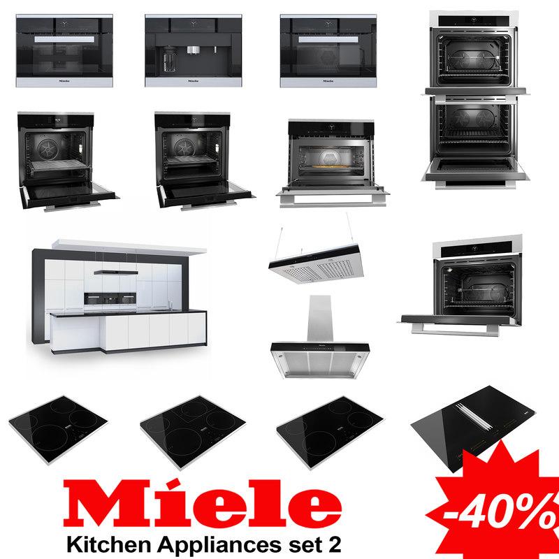 Set Miele   Kitchen Furniture 3D Model