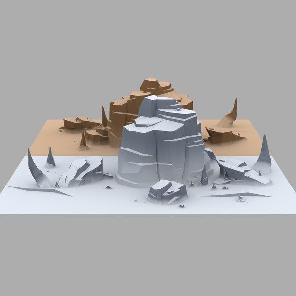 snow cliffs 3D