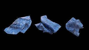 3D blue tarp 1 pbr model