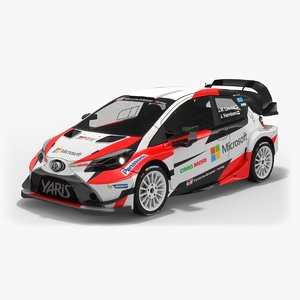 low-poly toyota yaris wrc 3D model