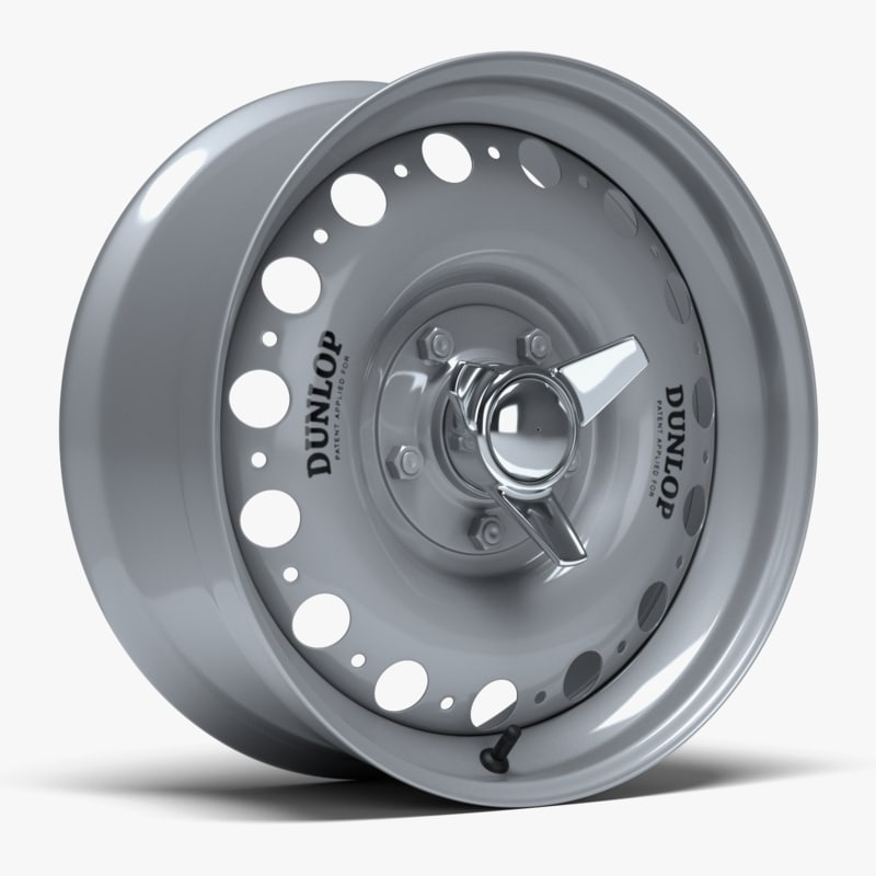 d-type racing wheel dunlop 3D model