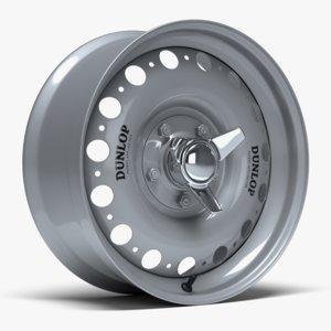 d-type racing wheel dunlop 3D model
