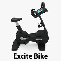- excite bike technogym 3D model