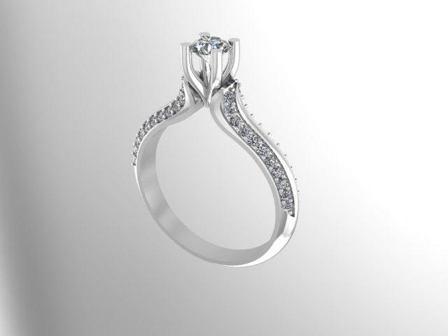 3D rings jewelry diamonds