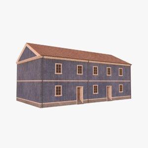 scandinavian building 3 3D model