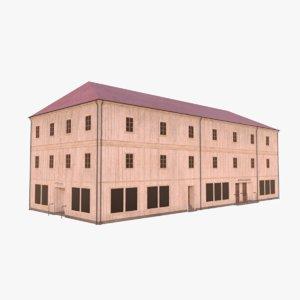 scandinavian building 4 3D model