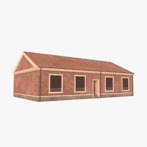 3D scandinavian building
