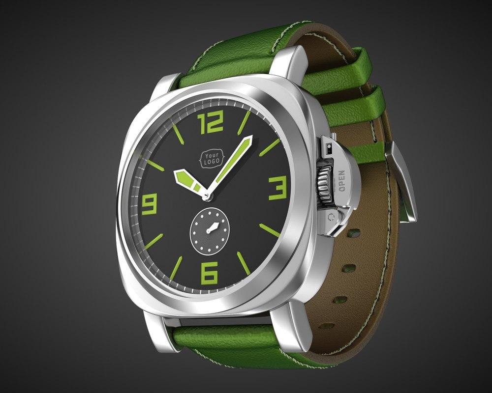 aviator wrist watch design model