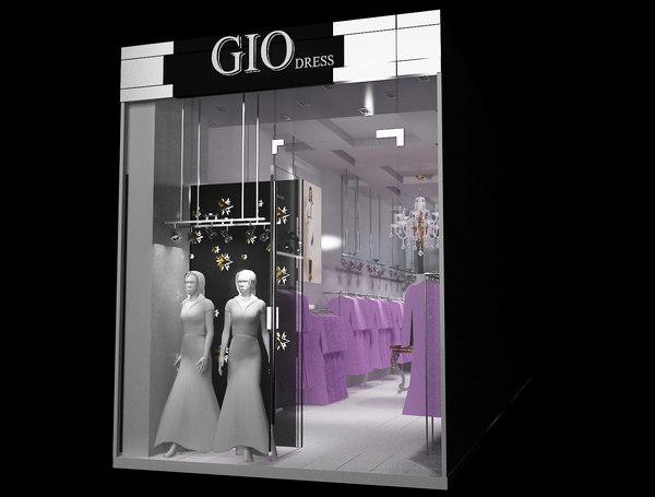 interior shop market 3D model