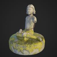 3D soviet statue pioneer