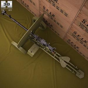 3D dshk dshkm model