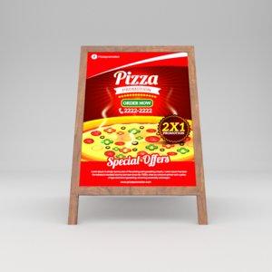 restaurant board 3D