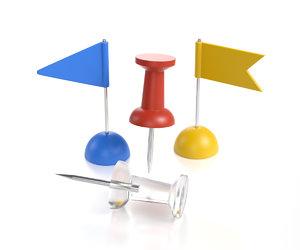 small pushpins flags model