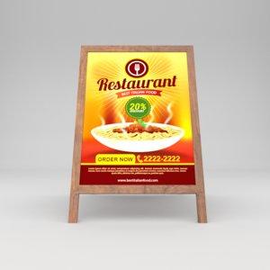 3D restaurant board