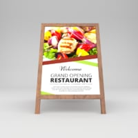 3D model restaurant board