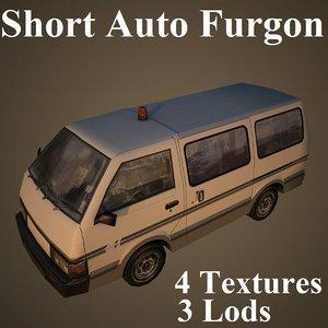 short auto furgon model