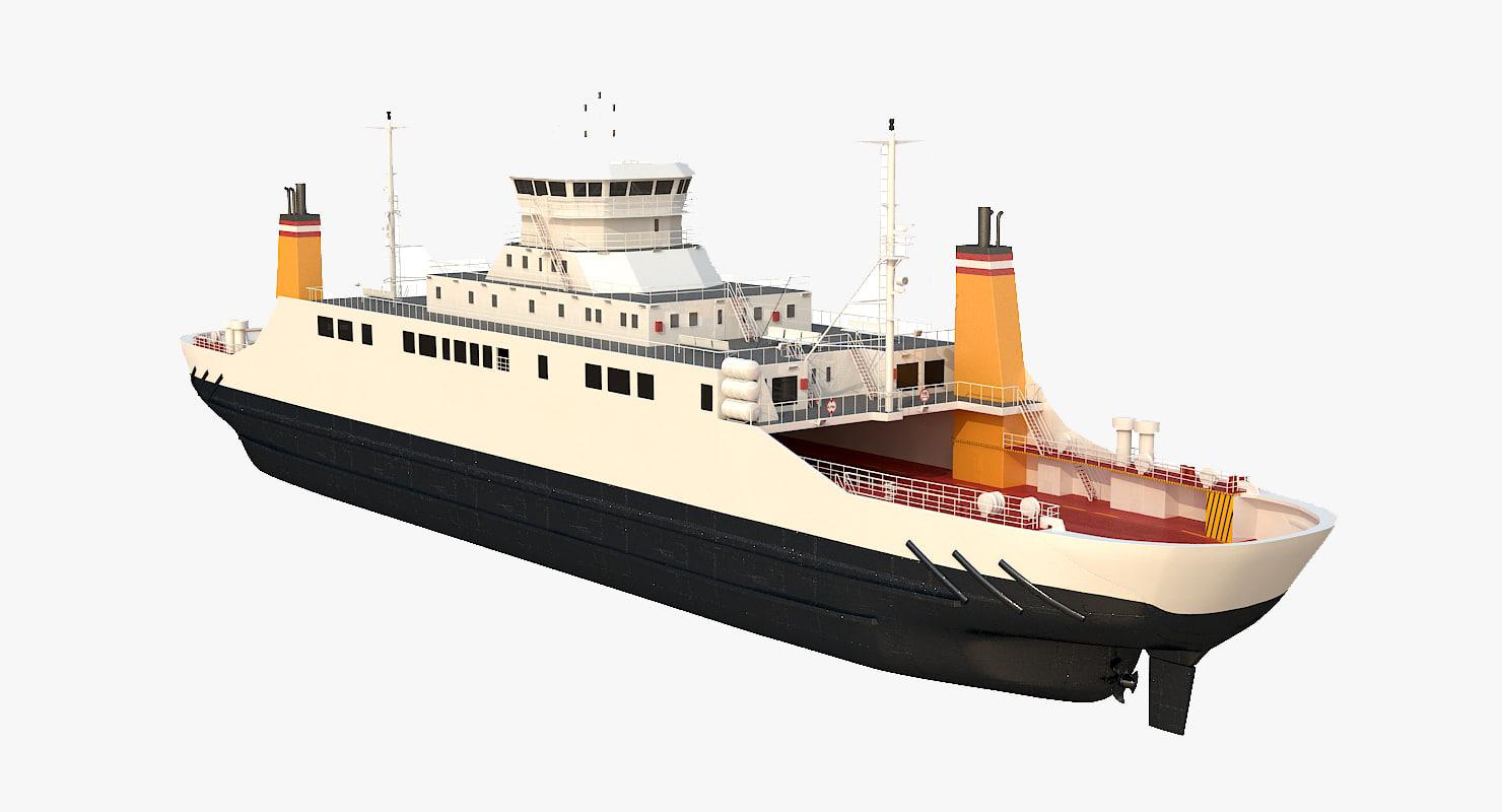 Car Ferry 3d Model Turbosquid 1166581