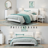 Pottery Barn Crosby White Bedroom set(1)