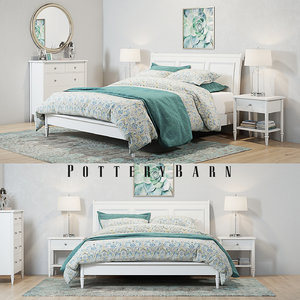 set pottery barn crosby 3D