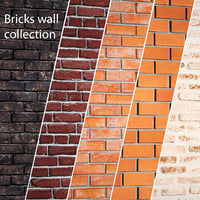 Bricks wall set