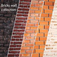 bricks wall set model