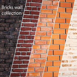 bricks wall set model