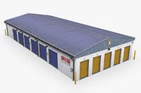 3D selfstorage warehouse building