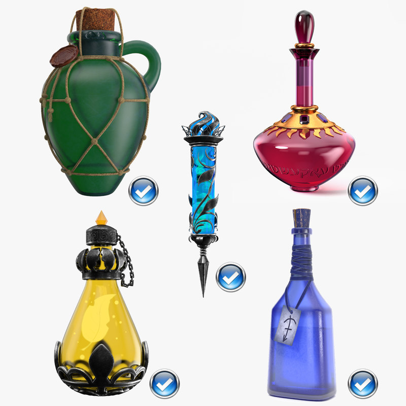3D model sealed magic potion