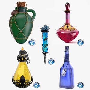 3D model sealed magic potion