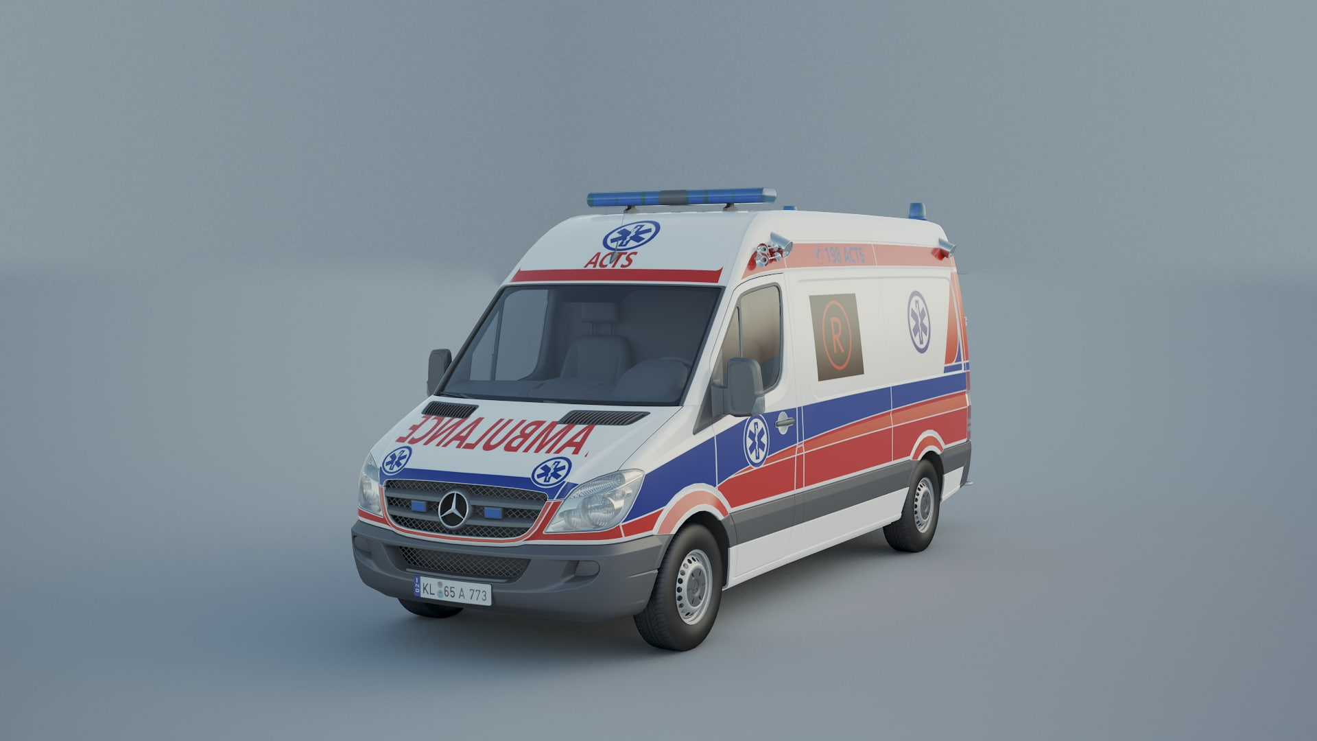 ambulance medical transport 3D model