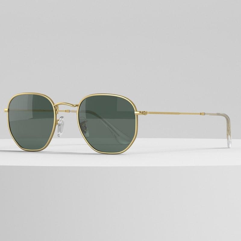 rayban sunglasses 3D model