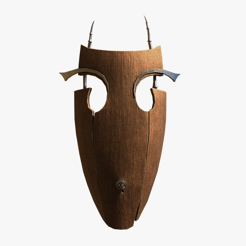 3D fantasy mask model